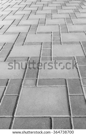 Grey stone brick floor texture and background