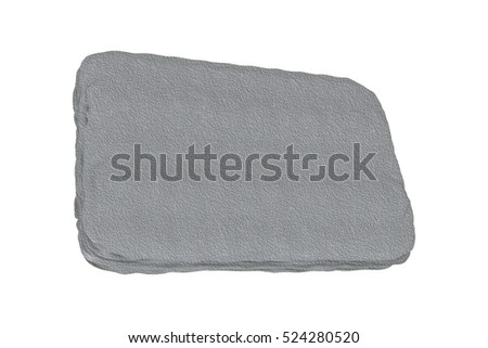 grey stone plate - rendered 3d illustration