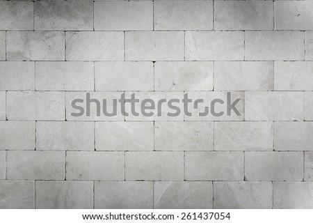 Grey stone wall background - stock photo