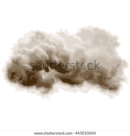 grey storm cloud isolated on white background