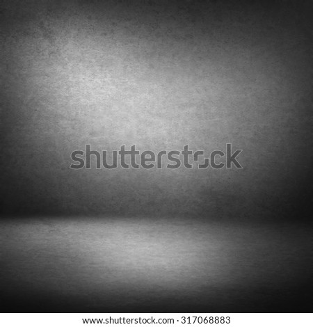 grey suede background and beam of light, empty room as grunge background texture to interior design