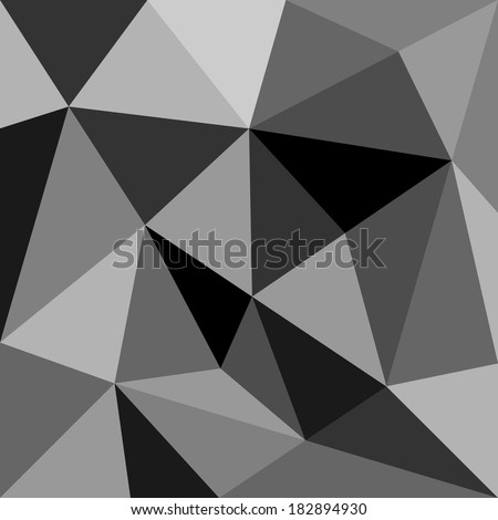 Grey triangle background or seamless pattern. Geometric mosaic card document template. Hipster flat surface design aztec chevron zig zag print.