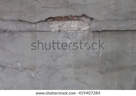 Grey wall background. Background of natural cement - stock photo