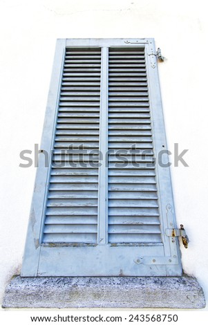 grey window  viladosia  palaces italy   abstract  sunny day    wood venetian blind in the concrete  brick