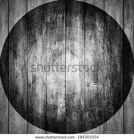 grey wooden background or white planks texture - stock photo
