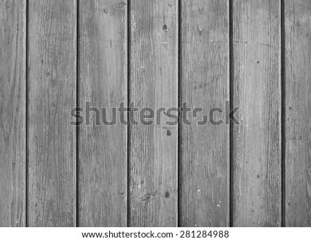 GREY WOODEN SLATS - stock photo