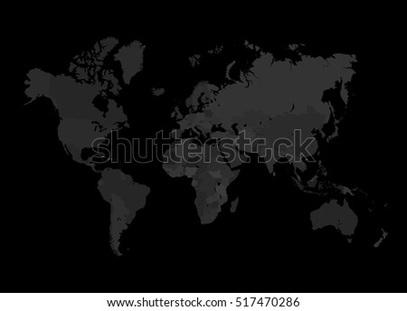 Grey world map illustration empty dark stock illustration 517470286 grey world map illustration empty dark template without country names text isolated country on gumiabroncs Choice Image