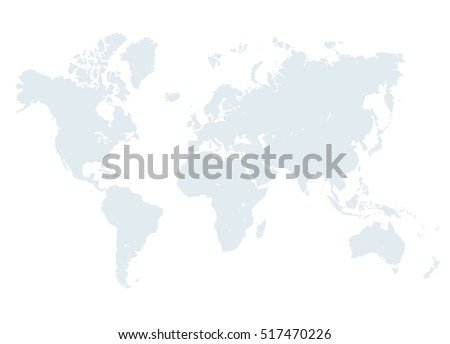 Grey world map illustration empty template stock illustration grey world map illustration empty template without country names text isolated on white background gumiabroncs Image collections