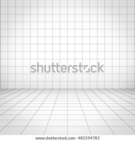 Grid background perspective view. 3D rendering.