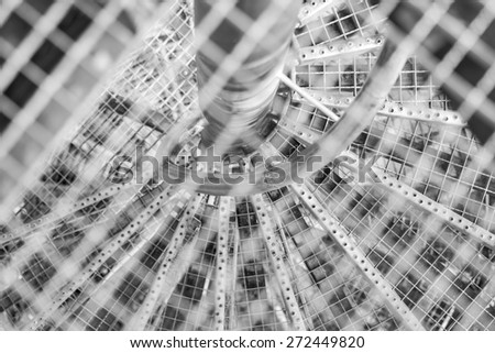 Grid Background Staircase - stock photo