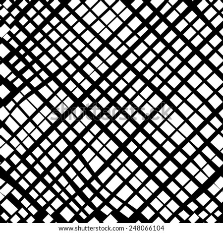 grid black and white texture. Ink grunge brush.