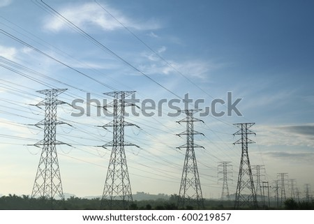 Grid electricity transmission towers