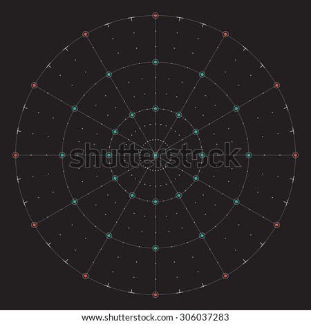 Grid for modern virtual technology futuristic user interface HUD