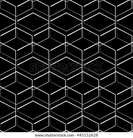 Grid, mesh geometric seamlessly repeatable pattern, monochrome background, texture