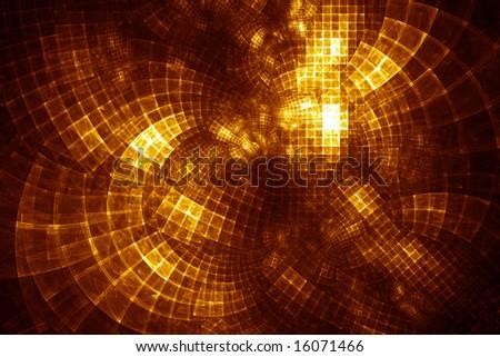 GridCloud Hub - fractal illustration - stock photo