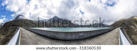 Griessee at the pass Nufenen in the Swiss Alps - stock photo