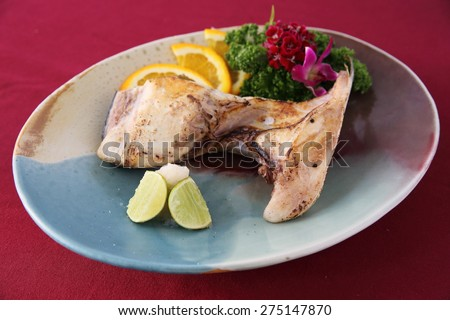 Grill Black cod japanese style - stock photo