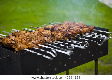 grill, heat, coal, dinner, food, barbecue, fire