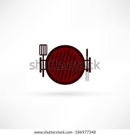grill icon - stock photo