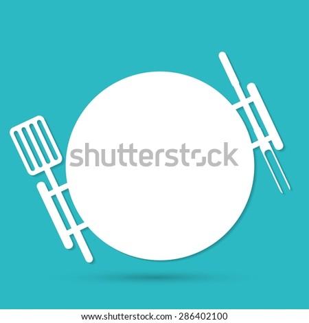 grill icon - stock photo