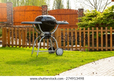 Grill on the garden - stock photo