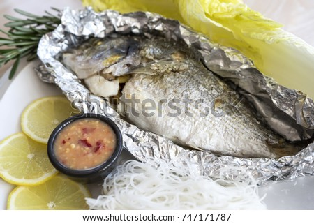 Bream stock images royalty free images vectors for Sea salt fish grill