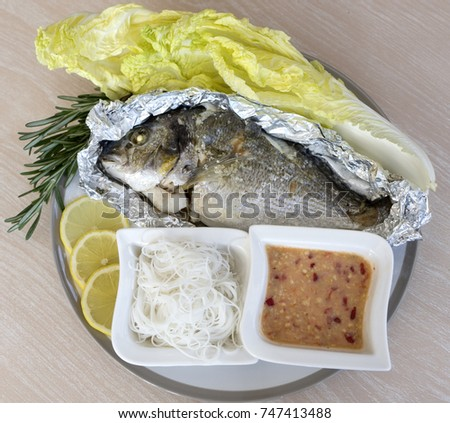 Grilled freshwater bream for Sea salt fish grill