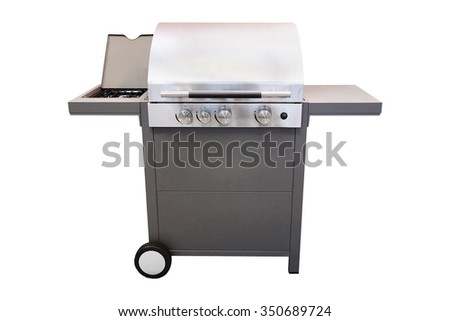 grill under the white background