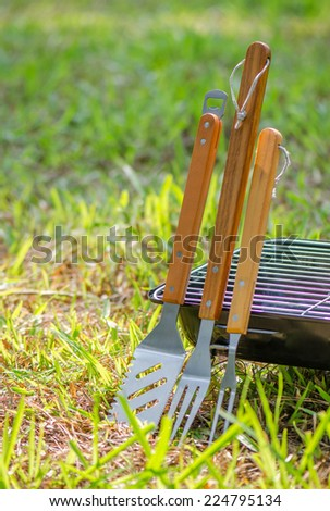 Grill Utensils  - stock photo