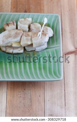 Grilled Bananas of Thai dessert - stock photo