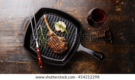how to cook steak cast iron on barbeque