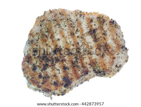 Grilled Beef Steak Isolated. Clipping path