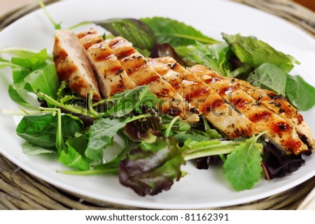 Grilled chicken breast in Provence herbs