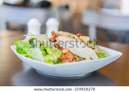Grilled chicken salad - healthy food
