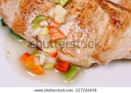Grilled chicken with mixed vegetables