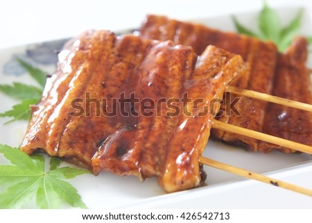 grilled eel, japanese food