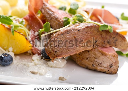 grilled fillet of lamb - stock photo