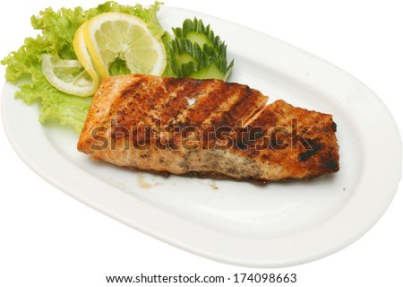 Grilled fish stock images royalty free images vectors for How to grill fish fillet