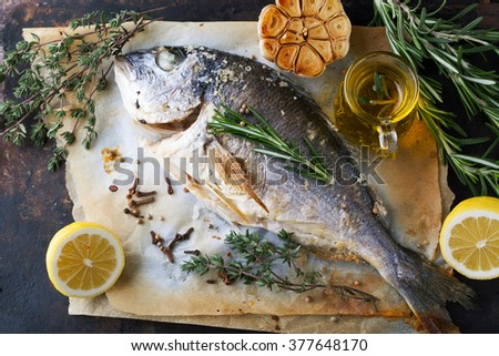 Bream fish stock images royalty free images vectors for Aromatic herb for fish
