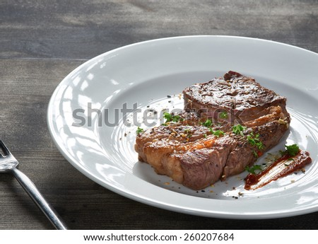 Grilled Gourmet Steak - stock photo