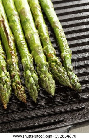 grilled Japanese asparagus for cooking image - stock photo
