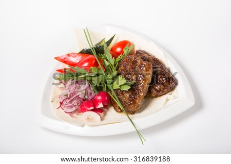 Grilled liver meat