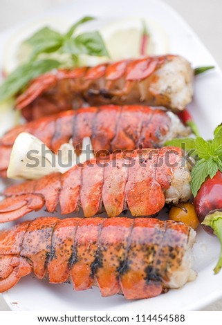 Grilled lobster - stock photo