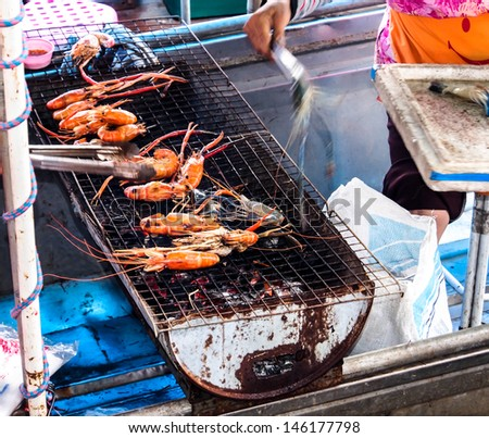 grilled lobsters in Thailand