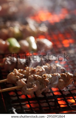 grilled meat on a stick