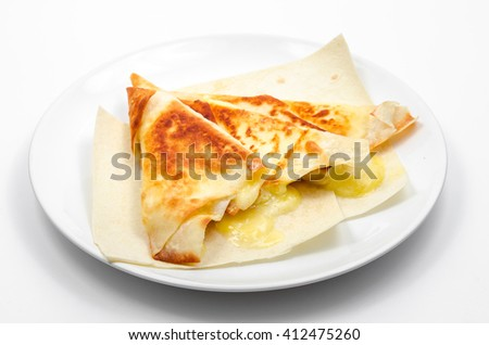 Grilled Pita Bread with Cheese - stock photo