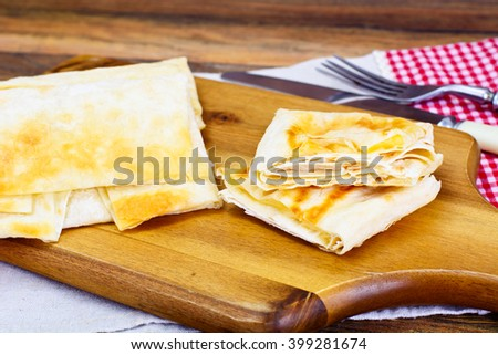 Grilled Pita Bread with Cheese Studio Photo - stock photo