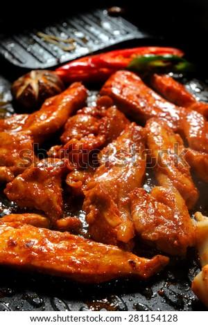 Grilled Pork With Marinade Korean Bbq Sauce