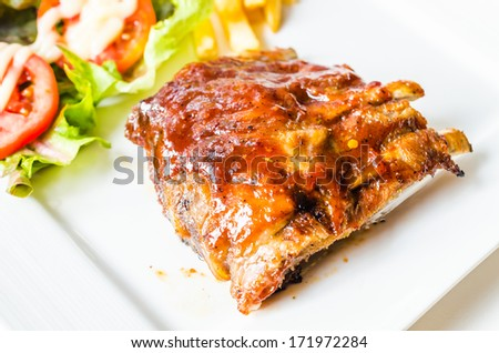 Grilled Ribs meat steak