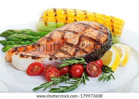 top sirloin steak flame broiled on stock photo 104012003